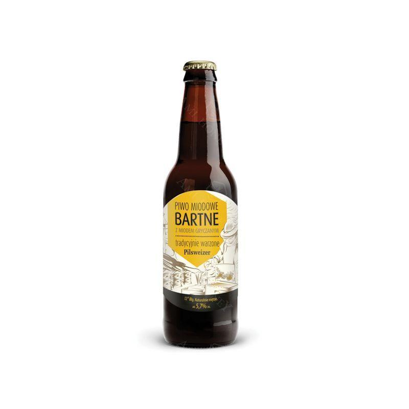 Zdjęcie produktu Piwo miodowe Bartne z miodem gryczanym 500 ml