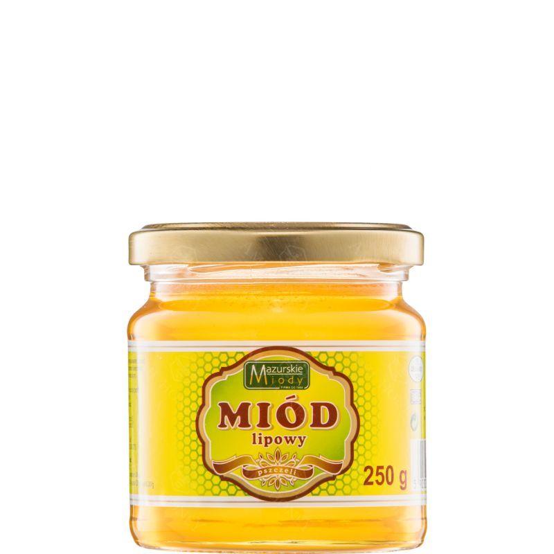 """Zdjęcie produktu Miód lipowy """"Mazurskie Miody"""" 250 g"""