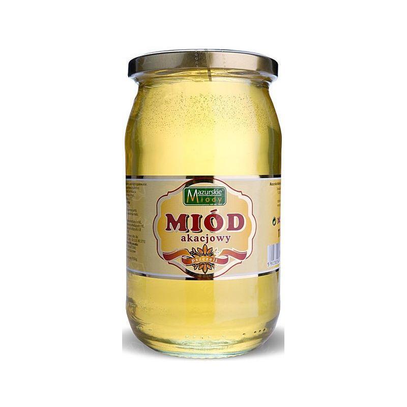 """Zdjęcie produktu Miód akacjowy """"Mazurskie Miody"""" 1100 g"""