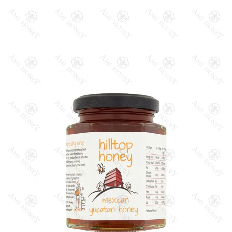 "Zdjęcie produktu Meksykański miód z półwyspu Jukatan ""Hilltop Honey"" 227 g"