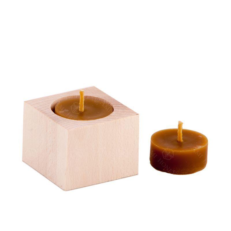 Zdjęcie produktu Drewniany kwadratowy świecznik