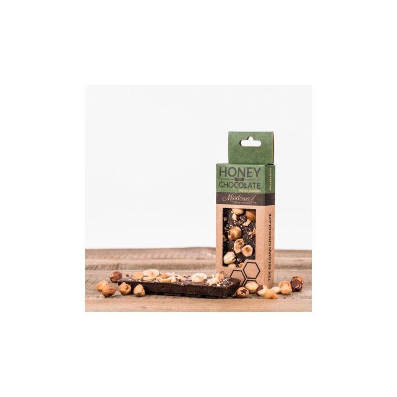 Zdjęcie produktu Czekolada z miodem i orzechami laskowymi 70 g