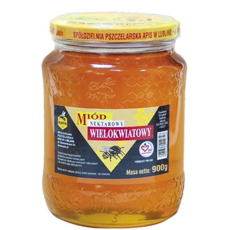 Zdjęcie produktu Miód nektarowy wielokwiatowy od Apisu 900 g