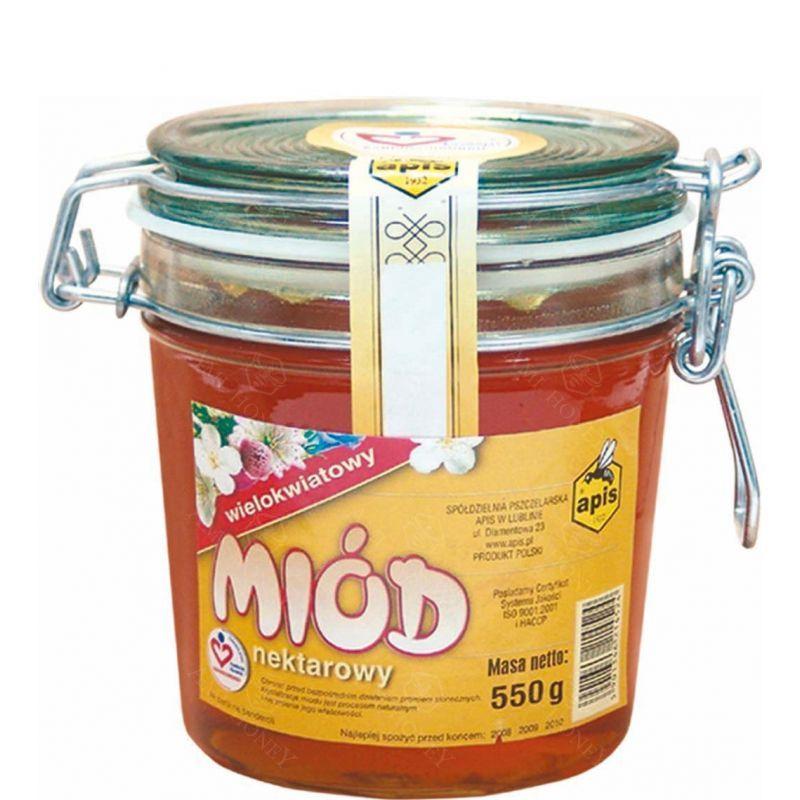 Zdjęcie produktu Miód nektarowy wielokwiatowy od Apisu 550 g