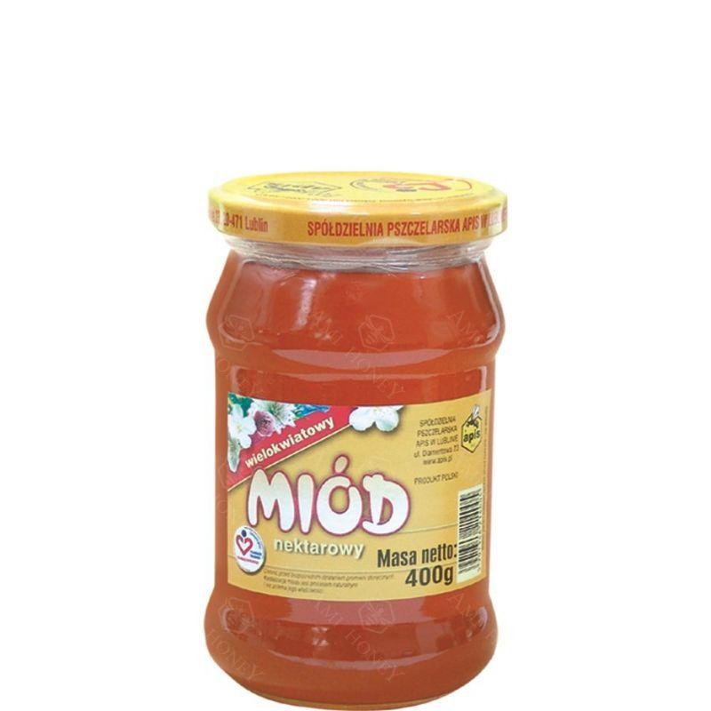 Zdjęcie produktu Miód nektarowy wielokwiatowy od Apisu 400 g