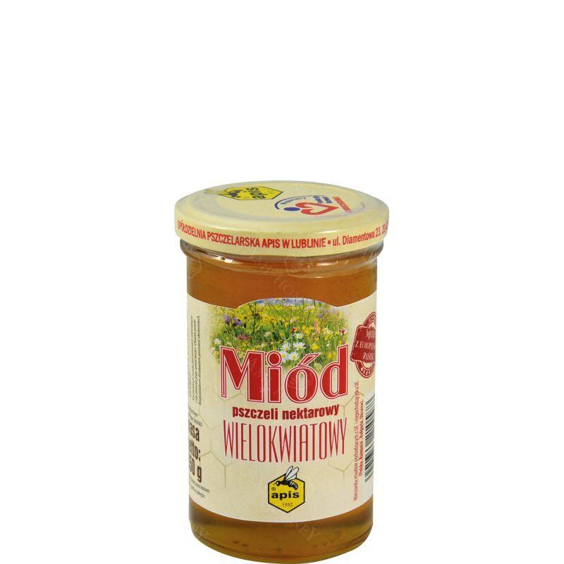 Zdjęcie produktu Miód nektarowy wielokwiatowy z europejskich pasiek od Apisu 350 g