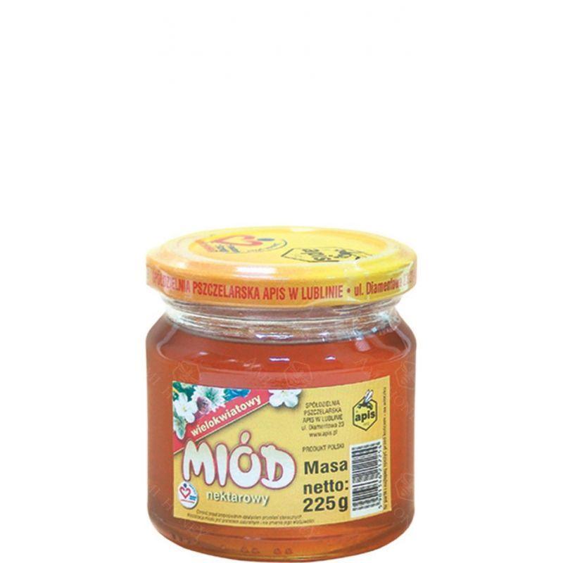 Zdjęcie produktu Miód nektarowy wielokwiatowy  od Apisu 225 g