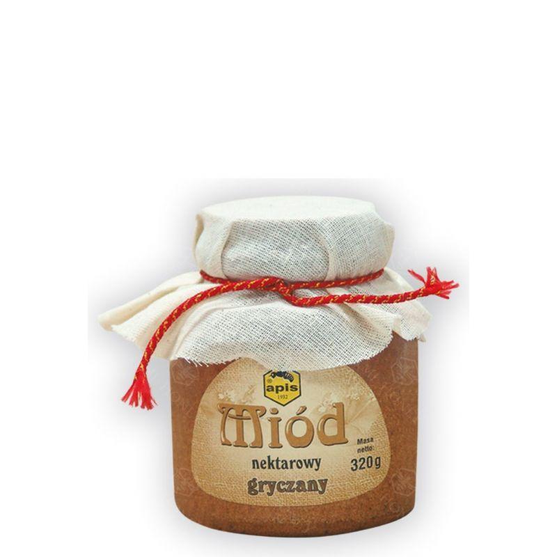 Zdjęcie produktu Miód nektarowy gryczany w kamionce od Apisu 320 g